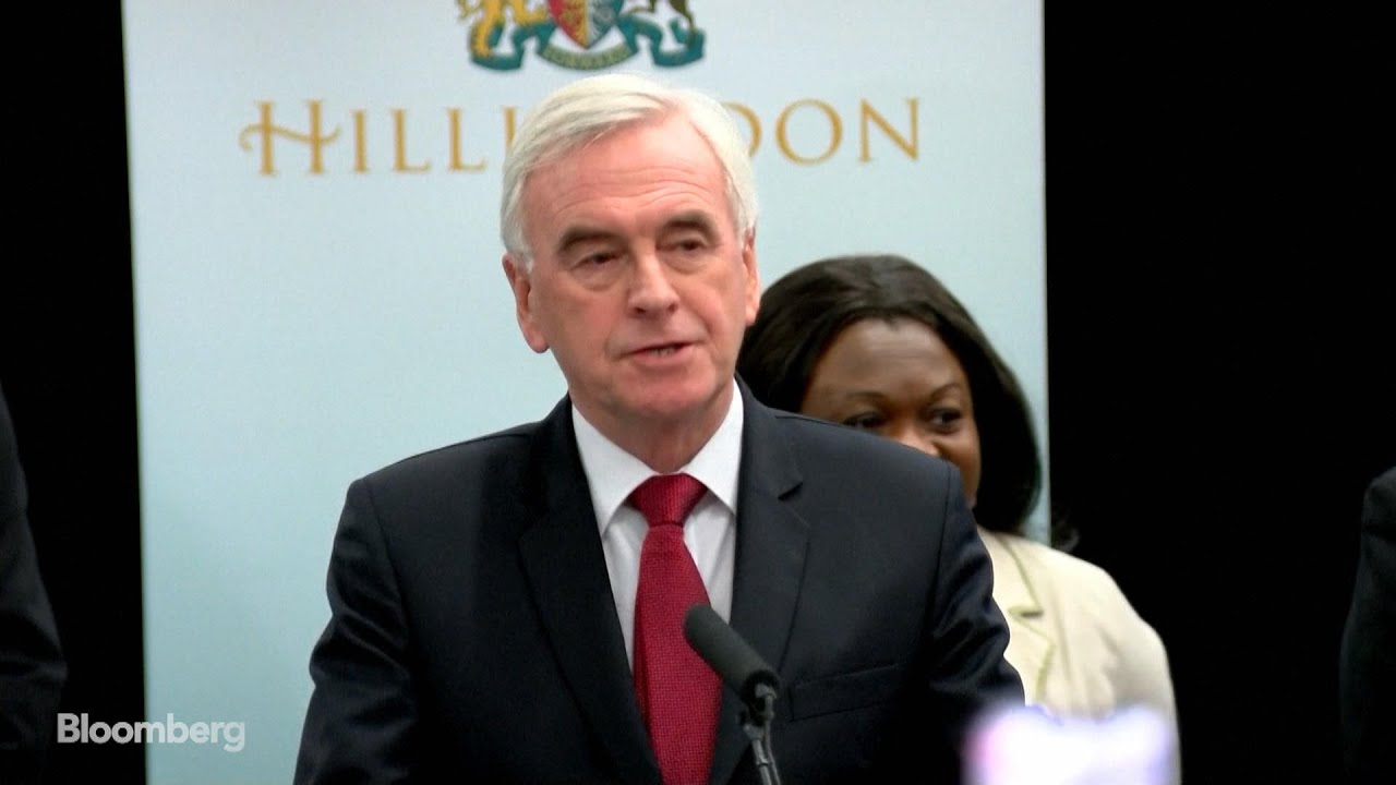 Labour's McDonnell Heckled During Concession Speech