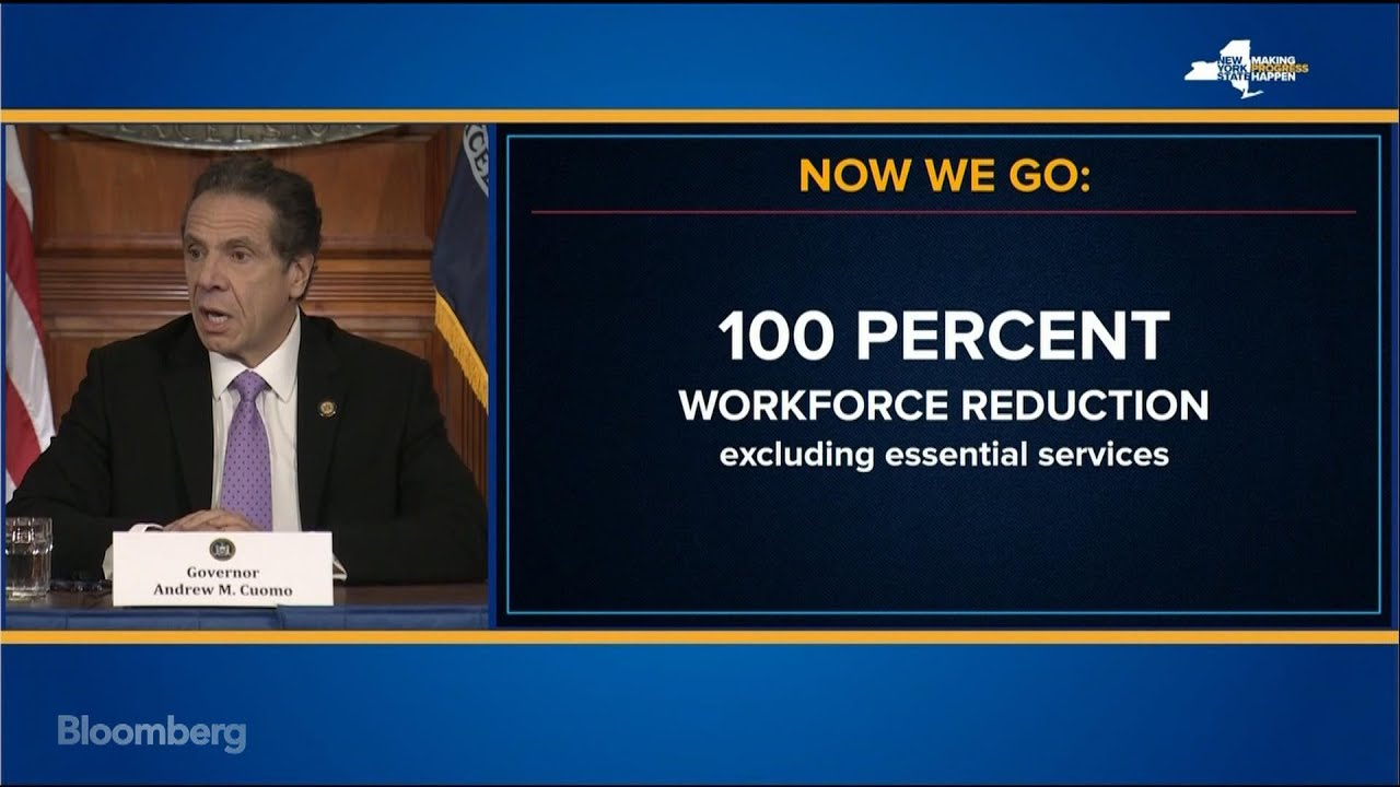 Cuomo Orders 100% of Non-Essential N.Y. Workforce to Stay Home